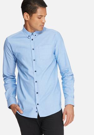 Basicthread Oxford Slim Fit Shirt Blue