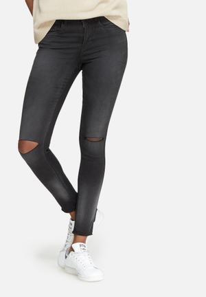 ONLY Royal Skinny Ankle Jeans Dark Charcoal