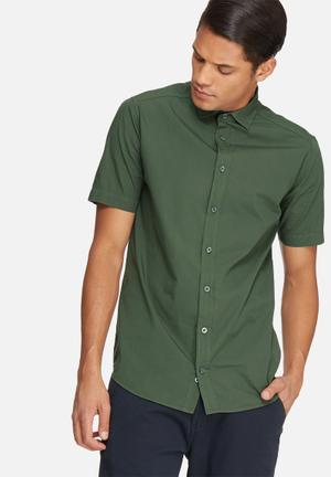 Basicthread Poplin Slim Fit Shirt Khaki Green