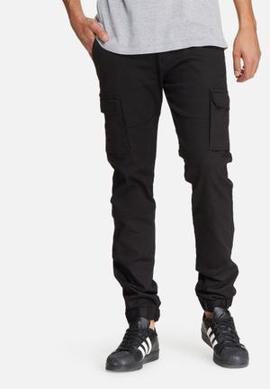 Basicthread Slim Cuffed Utility Pants Black