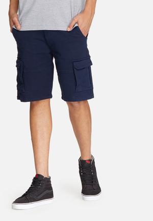 Basicthread Slim Utility Shorts Navy