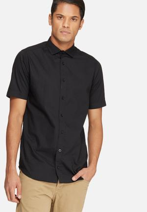 Basicthread Poplin Slim Fit Shirt Black