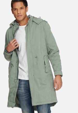 Selected Homme Fishtail 2 In 1 Parka Jackets Green