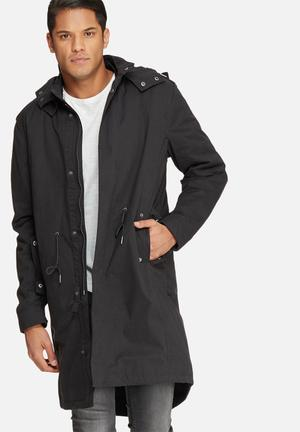 Selected Homme Fishtail 2 In 1 Parka Jackets Black