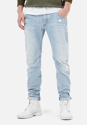 G-Star RAW Arc 3D Slim Jeans Light Aged Destroy
