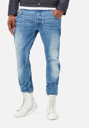 G-Star RAW Arc 3D Slim Hadron Stretch Denim Jeans Blue