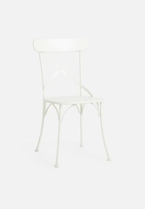 Sarah Jane Cross Back Chair  Metal