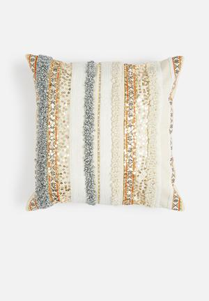 Sixth Floor Marrakech Cushion Cover 100% Cotton Back