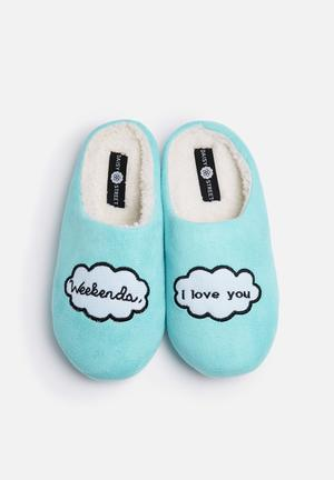 Daisy Street Weekend Slippers Pumps & Flats Blue