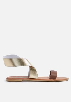 Dailyfriday Mandisa Sandals & Flip Flops Brown & Gold