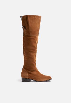 Vero Moda Mille Suede Overknee Boot Adobe