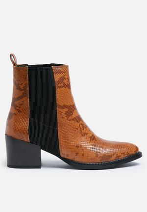 Vero Moda Naya Boot Tan & Black