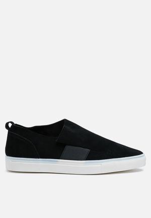 Vero Moda Karoline Suede Slip On Sneakers Black
