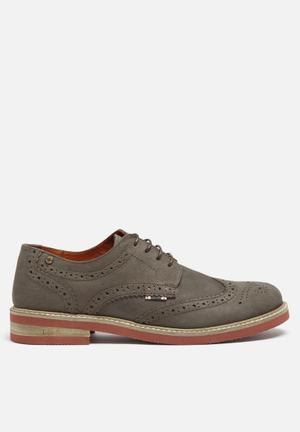 Jack & Jones Footwear & Accessories Smart Nuback Brogue Shoes  Grey