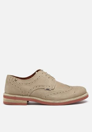 Jack & Jones Footwear & Accessories Smart Nuback Brogue Shoes  Stone