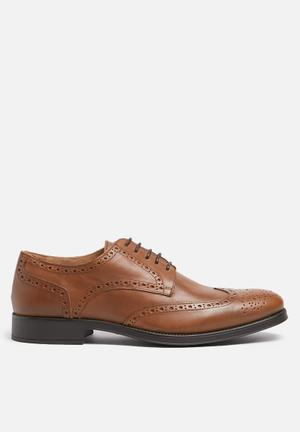 Selected Homme Oliver Leather Brogue Formal Shoes Tan