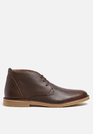 Selected Homme New Royce Leather Boot Brown