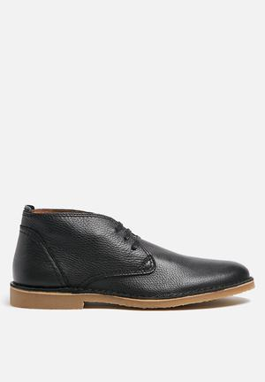 Selected Homme New Royce Leather Boot Black
