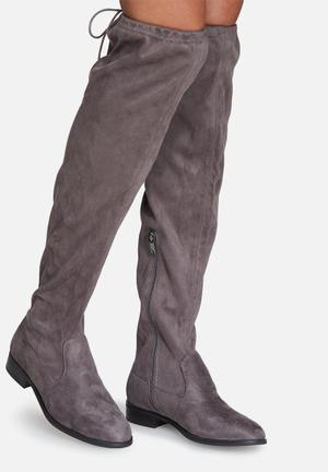 ONLY Reese Knee High Boot Grey
