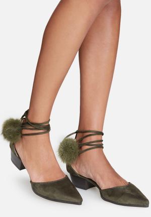 Cape Robbin Aria Heels Olive