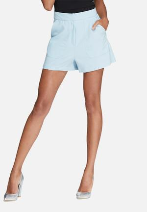 Missguided Front Pocket Tailored Shorts Blue