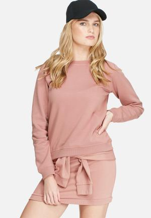 Daisy Street Relaxed Sweatshirt Co-ord T-Shirts Rose Pink