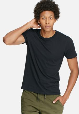 Basicthread Basic Crew Neck Tee T-Shirts & Vests Black