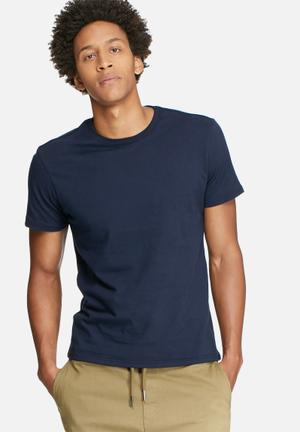 Basicthread Basic Crew Neck Tee T-Shirts & Vests Navy
