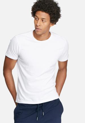 Basicthread Basic Crew Neck Tee T-Shirts & Vests White