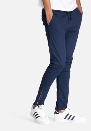 Basicthread Deco 2 Skinny Pants Navy