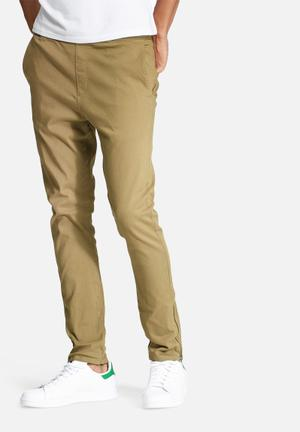 Basicthread Deco 2 Skinny Pants Khaki Brown