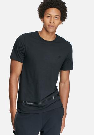 Nike High Gloss Stripe Tee T-Shirts Black