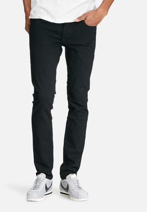 Jack & Jones Jeans Intelligence Tim Slim Original Jeans Black