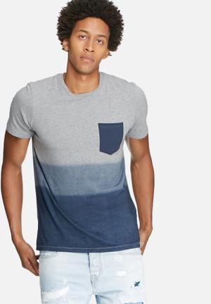 Jack & Jones Originals Bakel Slim Tee T-Shirts & Vests Grey & Blue