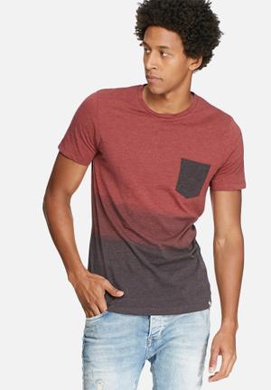 Jack & Jones Originals Bakel Slim Tee T-Shirts & Vests Red & Purple