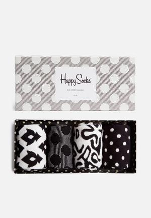 Happy Socks Big Dot Gift Box Socks Black & White