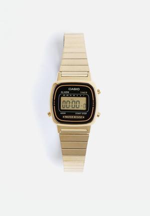 Casio Ladies Digital Wrist Watch Gold