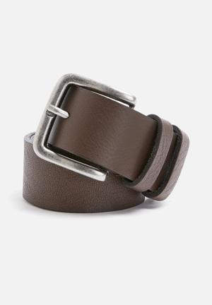 Basicthread Basic Leather Belt Brown