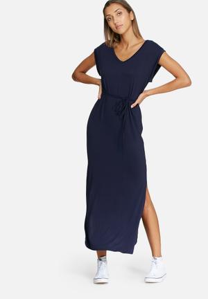 Dailyfriday V-neck Slouch Maxi Dress Casual Navy