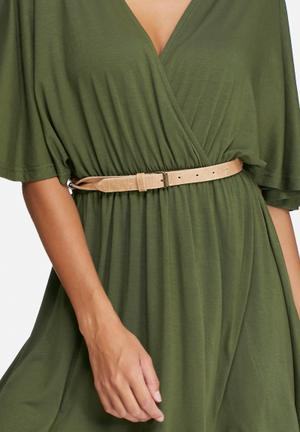 Dailyfriday Twist Detail Belt Tan
