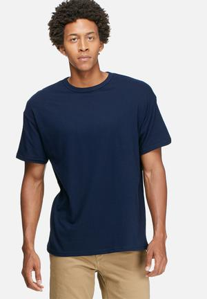 Basicthread Plain Oversized Boxy Tee T-Shirts & Vests Navy