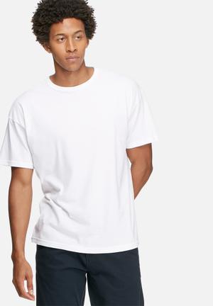 Basicthread Plain Oversized Boxy Tee T-Shirts & Vests White