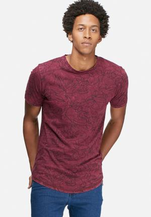 Only & Sons Andre Fitted Tee T-Shirts & Vests Port