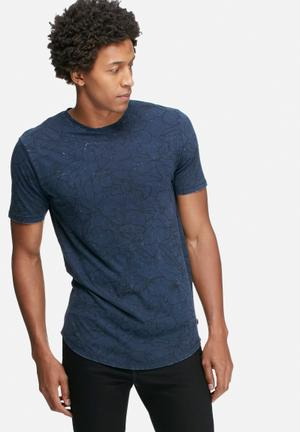 Only & Sons Andre Fitted Tee T-Shirts & Vests Dark Blue
