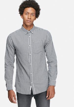 Jack & Jones Originals James Slim Shirt White & Black