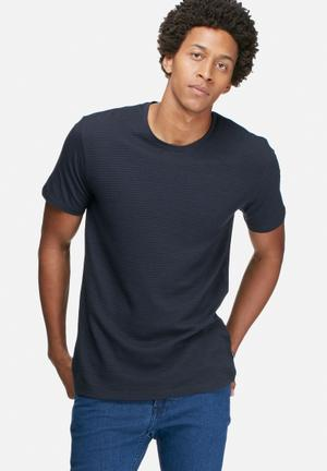 Only & Sons Angus Fitted Tee T-Shirts & Vests Navy