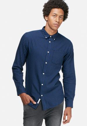 Jack & Jones Originals James Slim Shirt Blue & Black
