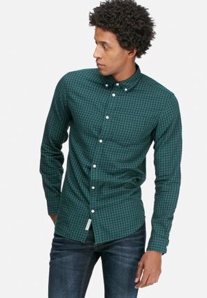 Jack & Jones Originals James Slim Shirt Green & Black