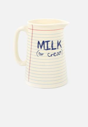 Temerity Jones Notebook Milk Jug Drinkware & Mugs Ceramic