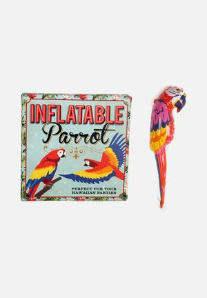 Temerity Jones Inflatable Parrot Partyware Plastic